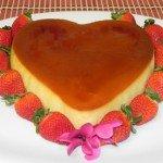 Tự làm bánh flan hình trái tim đầy cuốn hút