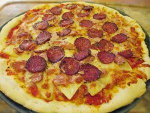 Cách làm bánh pizza dăm bông dứa cực ngon-hình số-5