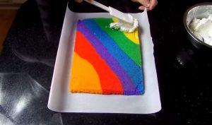 Cách làm bánh bông lan 7 màu đầy hấp dẫn-hình số-6