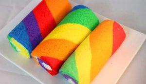 Cách làm bánh bông lan 7 màu đầy hấp dẫn-hình số-8