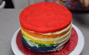 Chia sẻ cách làm bánh kem 7 màu tuyệt đẹp-hình số-5
