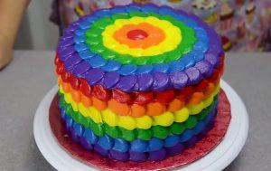 Chia sẻ cách làm bánh kem 7 màu tuyệt đẹp-hình số-9