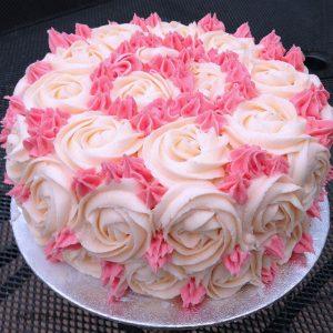 Cách làm bánh kem hoa hồng đẹp mắt-hình số-6