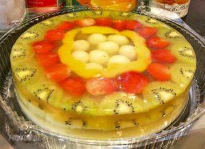Bí quyết làm bánh kem rau câu trái cây ngon mê ly-hình số-5
