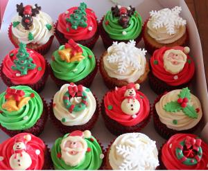 Tự làm bánh cupcake Giáng sinh đơn giản-hình số-5