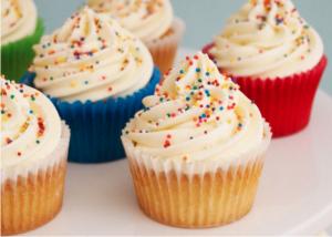 Chia sẽ cách làm bánh cupcake vani thơm nứt mũi-hình số-8