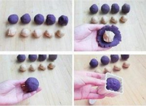 Cách làm bánh trung thu khoai lang tím đơn giản-hình số-3